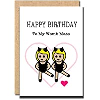 Withpuns funny greeting card amazon funny birthday card for sister womb mate brother twins friend bookmarktalkfo Images