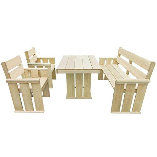 Kiefer Gartenmöbel (vidaXL Kiefer Imprägniert Gartenmöbel 4-TLG. Holz Sitzgruppe Gartengarnitur)