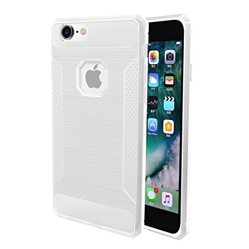 Wkae Brushed Carbon Fiber Texture Shockproof TPU Schutzhülle für iPhone 6 Plus & 6s Plus ( Color : Grey ) Transparent