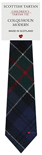 I Luv Ltd Garçon Tout Cravate en Laine Tissé et Fabriqué en Ecosse à Colquhoun Modern Tartan