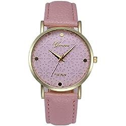 Geneva Platinum Floral Stylish Pink For Women - GP-342