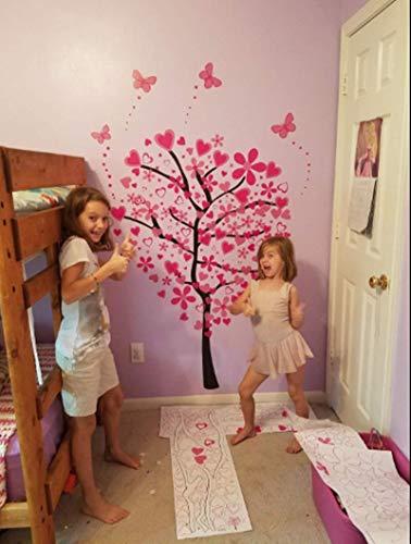ElecMotive Riesige Herz Baum Schmetterling Abnehmbare Wandaufkleber Wandtattoo Wandsticker Aufkleber DIY für Wohnzimmer Schlafzimmer Kinderzimmer mit Geschenkkarton - 3