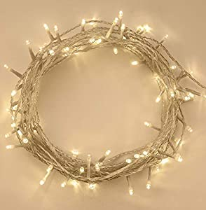 Fairy Lights 100 LED Warm White Indoor and Outdoor use