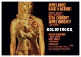 James Bond (Goldfinger Projection) Movie Poster Print 40 x 30 cm
