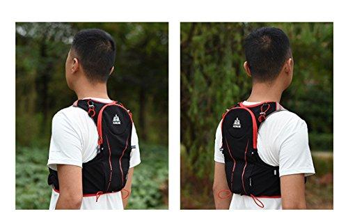 Imagen de aonijie 5l bolsas de  de nailon impermeable, para maratón, ciclismo, running chaleco, bolsa de deporte + bolsa de agua de hidratación de 1,5 l, l/xl alternativa