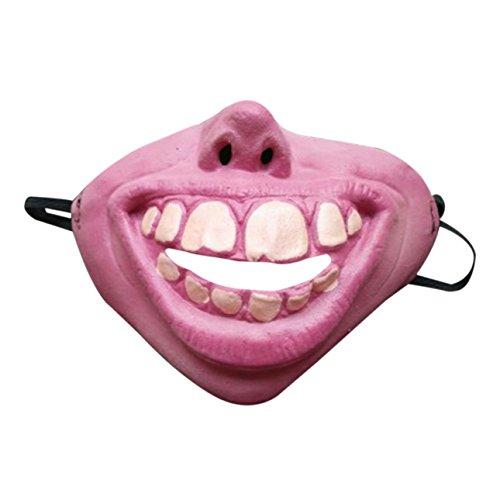 Ballylelly-Latex Half Face Scary Horror Gruselige Masken lustige Kostüm Spielen Prop Decor für Kinder Erwachsene Maskerade Party Maske (Mix Farbe - Zahn) (Kinder Kostüme Für Gruselige)
