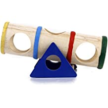 1pcs Balancín Multicolor de Madera para Hámster Juguete para Mascotas