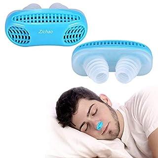 Anti Schnarch Nasendilatatoren, Fortgeschrittene Nasen Belüftung um Das Atmen Und Schnarchen Zu Erleichtern, Silikon Material, Reisehülle wird mitgeliefert (Blau)