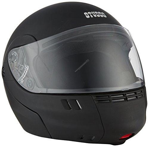 Studds Full Face Helmet Ninja 3G (Eco Matt Black, M)