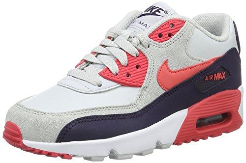 Nike Mädchen 833376-005 Fitnessschuhe, Grau (Pure Platinum/Ember Glow-Purple Dynasty), 37.5 EU