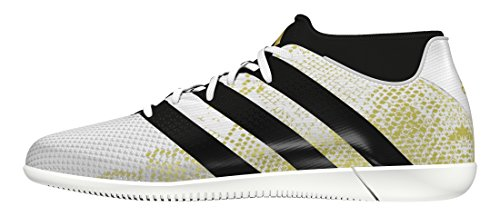 adidas ACE 16.3 PRIMEMESH IN - Chaussures de football pour Homme Blanc (Ftwr White/Gold Met/Core Black)