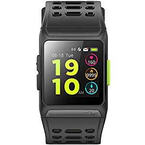 Loluka Unisex GPS Fitness Tracker Digital Quarz Bluetooth Smartwatch Herzfrequenz Monitor Laufen Schwimmen Activity Tracker Farbbildschirm
