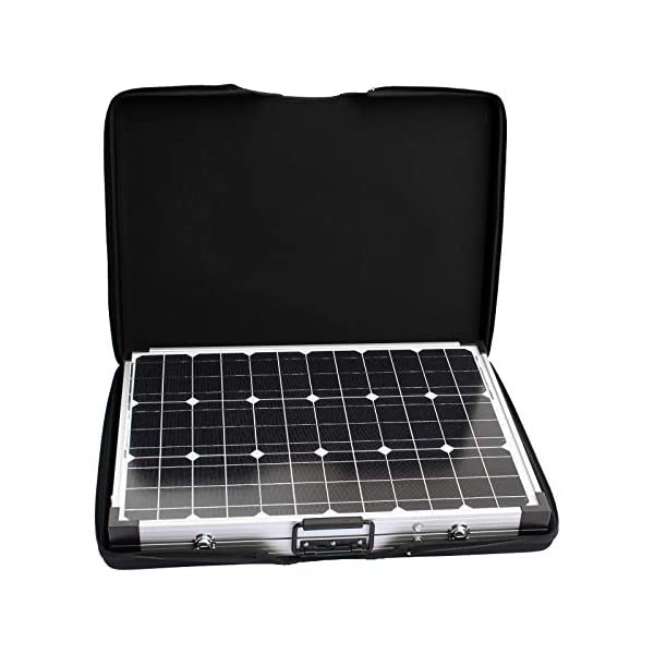 120W 12V Photonic Universe portable folding solar charging kit with protective case and 5m cable for a motorhome…