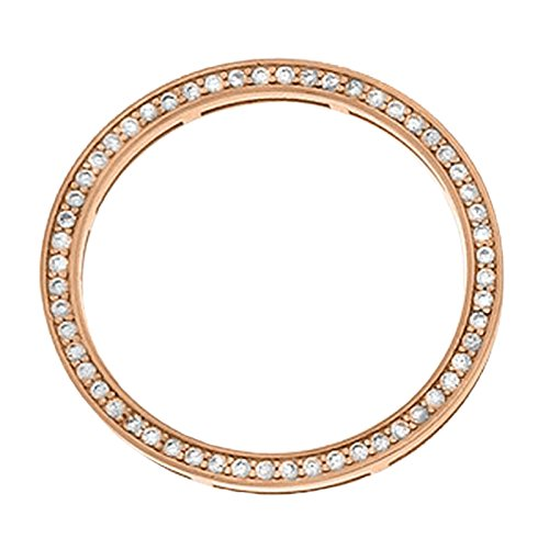 MY iMenso Insignie 28-0093 Dancing con pendente a disco con argento placcato in oro rosa, con Zirconia cubica bianca, 25 mm