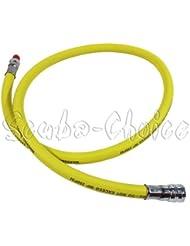Latiguillo para regulador de buceo de baja presión - Amarillo - 350psi - 91,44cm