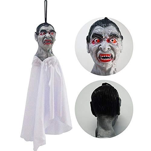 QinMM W Halloween Party Dekor,1 stücke Halloween Requisiten Papier Durable Anhänger Tag für Ghost Festival KTV Bar Fenster (Papier Tasche Kopf Kostüm)