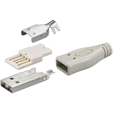 Connettore maschio USB tipo A, rivestimento incluso