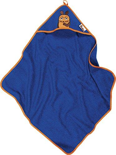 Playshoes Kinder Frottee Kapuzen-Handtuch, praktisches Kapuzentuch für Jungen, mit Maus-Stickung (Kapuze Handtuch Kleinkind)