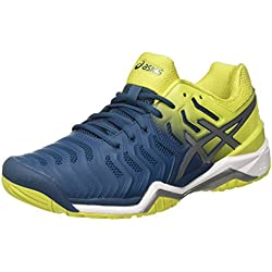 Asics Gel-Resolution 7, Zapatillas de Tenis para Hombre, (Ink Blue/Sulphur Spring/White 4589), 43.5 EU