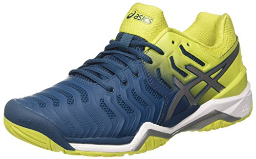 Asics Gel-Resolution 7, Zapatillas de Tenis para Hombre, Multicolor (Ink Blue/Sulphur Spring/White 4589), 43.5 EU