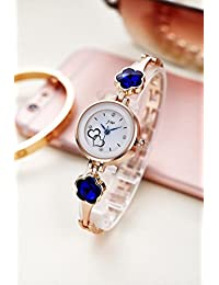 Horse Head Analog Multi-Colour Dial Blue Studded Womens Watch