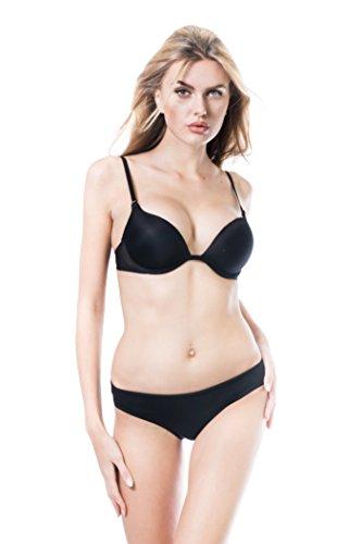 Cotton Whisper Frauen 4 8 Packung Cottong Thongs Bikinihose 8 Pack schwarz