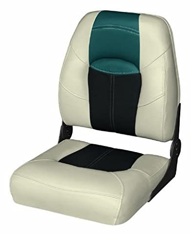 Wise 8WD1461-1724 Blast-Off Tour Series Folding High Back Boat Seat (Mushroom/Black/Green) by Wise