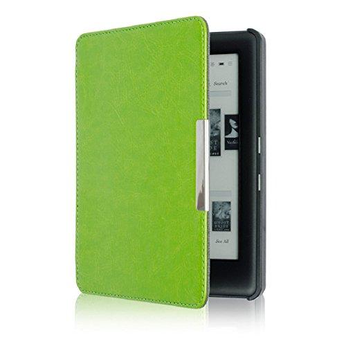 Culater® Mise en Veille Automatique Housse en PU Cuir Magnétique Pour KOBO GLO HD 6.0inch (vert)