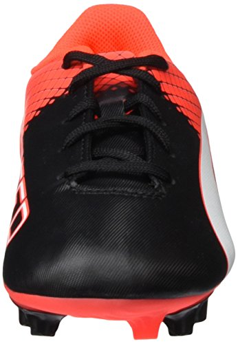 Puma Evospeed 5 5 Fg, Chaussures de Football Compétition Garçon Noir (Black/White/Red Blast)