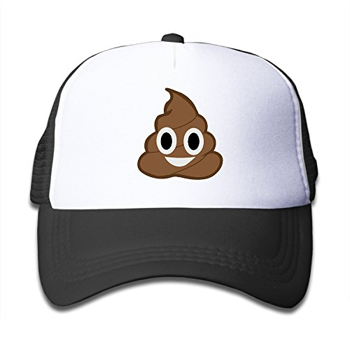 Kid 's divertido caca Emoji Wicked Gorra de béisbol de regalo -  negro -