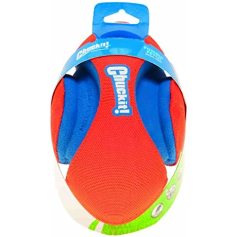 Chuckit! FUMBLE FETCH Football Shaped Durable Canvas & Rubber Dog Toy 17cm SMALL