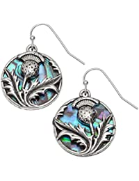 Tide Jewellery - Pendientes de tuerca escocesa para mujer con incrustaciones de paua de origen sostenible en casco de…