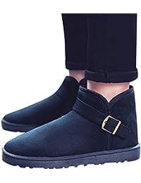 Zapatos de Hombre Transpirable, Invierno Parte Inferior Plana Cómodo Cálido Transpirable Botas para