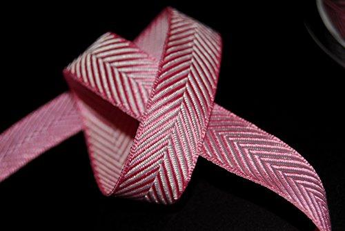White Stripe Grosgrain (16mm Fischgrätenmuster Chevron Stripe Grosgrain. Preis pro Meter-viele Farben: schwarz, blau, lila, pink, rot Weihnachten, Geburtstage, Geschenke, Kuchen, Basteln Baby Pink /White)
