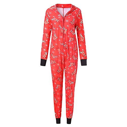 (iHAZA Familie Weihnachten Herren Rentier Mit Kapuze Strampler Jumpsuit Pyjamas Nachtwäsche Outfit)