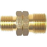"""Doppelnippel G 1/4"""" LH x 3/8"""" LH - Gas Schlauch Verbinder Kupplung Propan Acetylen Gasschlauch"""