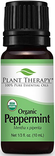 USDA Certified Organic Peppermint Essential Oil. 10 ml. 100% Pure, Undiluted, Therapeutic...