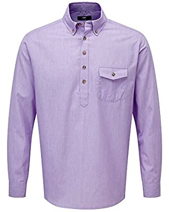 Cotton Traders Mens Summer Long Sleeve Button Down Collar
