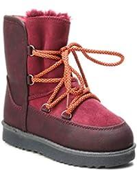 7efedd2b769a42 HERIXO Damen Baby Kinder Mädchen Junge Schuhe Winter-Boots Snowboots Schnee  Fell-Stiefel warm dick gefüttert Futter Schlupfstiefel…
