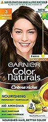 Garnier Color Naturals Shade 3 Darkest Brown, 70ml + 60g