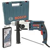 Bosch Schlagbohrmaschine GSB 19-2 RE im Handwerkerkoffer + Bosch Robust Line-Mehrzweckbohrer-Set CYL-9, 7-teilig