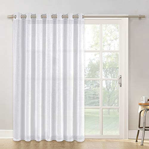Pares de Cortinas Translucidas Visillos Blancas Estas cortinas ofrecen privacidad a la vez que dejan entrar la luz del exterior para que no te sientas desconectado del mundo. Las cortinas tienen ollaos en la parte superior para que las puedas colgar ...