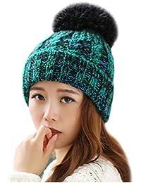YN Sombrero de Invierno Mujer Invierno Versión Coreana Lindo Otoño e  Invierno Sombrero Caliente Orejeras Sombrero ad8330c52d6