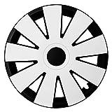 CM DESIGN NEFRYT Black White - 15 Zoll, passend für Fast Alle BMW z.B. für 3er E46 Coupe, Compact, Limousine, Touring