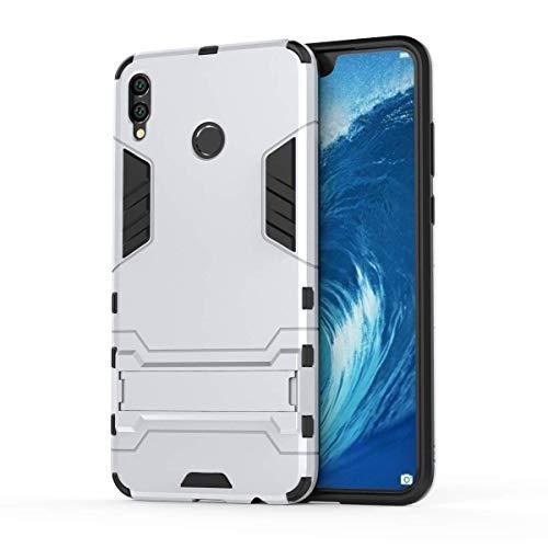 AOYIY Huawei Y7 Pro 2019Hülle, [SCHWERLASTIGE Armor] Dual Layer Rugged Hybrid [Hard Shockproof] Tasche mit Ständer für Huawei Y7 Pro 2019Cover [Kompatibel mit Displayschutzfolie] Weiß