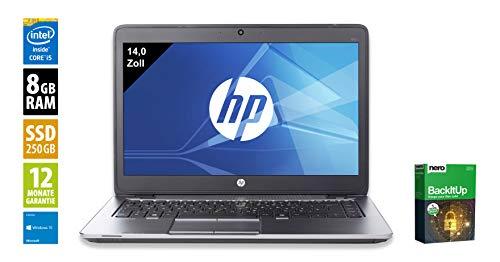 HP EliteBook 840 G3 | Notebook | Laptop | 14,0 Zoll (1920x1080) | Intel Core i5-6300U @ 2,4 GHz | 8GB DDR4 RAM | 250GB SSD | Webcam | Windows 10 Pro (Zertifiziert und Generalüberholt) Elitebook Laptop