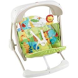 Fisher-Price Balancelle Compacte 2-en-1 balancelle et siège bébé avec vibrations appaisantes, chansons et sons, jusqu'à 11,3kg, CCN92