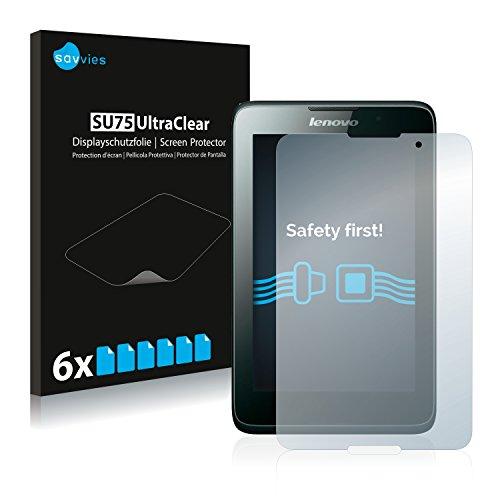 Savvies Schutzfolie kompatibel mit Lenovo Tab A7-40 (6 Stück) - ultraklare Bildschirmschutz-Folie