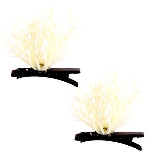 sourcingmap® Femmes Adultes Chapeau Plante À Fleur Antenne Epingles À Cheveux Pince Cheveux 2pcs