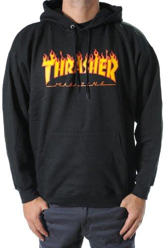 Thrasher flame à capuche noir